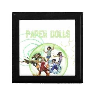 Mercancía de papel de las muñecas caja de recuerdo