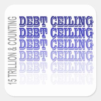 Mercancía del techo de deuda pegatina cuadradas personalizada