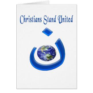 Mercancía mundial de la solidaridad cristiana tarjeta de felicitación