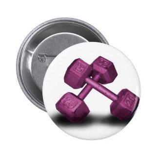 Mercancía rosada de las pesas de gimnasia chapa redonda de 5 cm