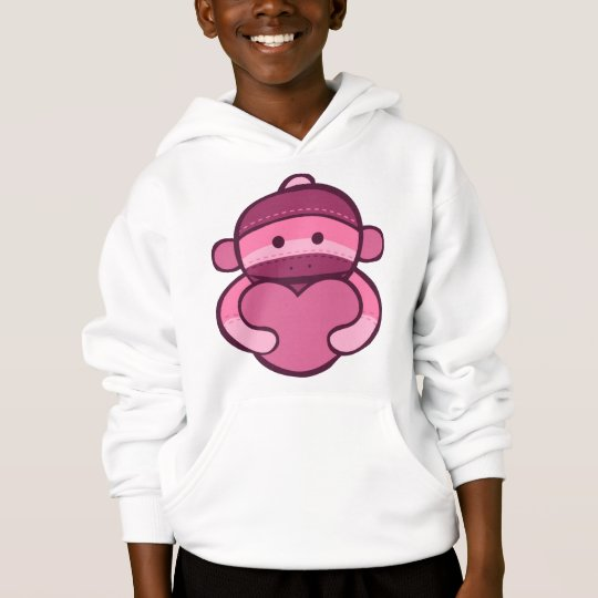 Mercancía rosada del mono del calcetín de la
