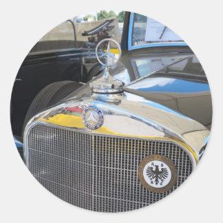 Mercedes-Benz 260D. El primer coche diesel del mun Pegatinas Redondas