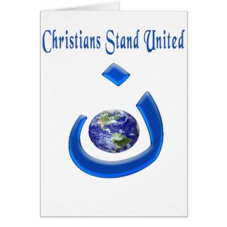 Merchandice cristiano de la solidaridad tarjeta de felicitación