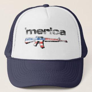 Merica apenó el gorra del rifle