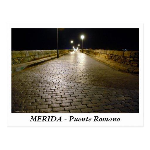 Baños Romanos Merida:MERIDA – Puente Romano Tarjeta Postal