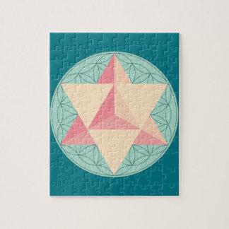 Merkaba en la flor de la vida puzzle