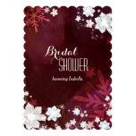 Merlot + Ducha nupcial del invierno floral rústico Invitación 12,7 X 17,8 Cm
