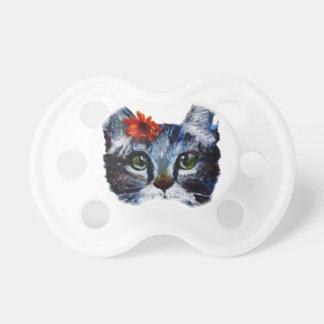 Mermelada, el gato lindo que lleva una flor chupete