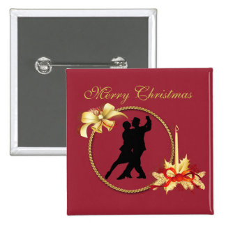 Merry Christmas tango Botón