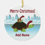 Merry Christmas! Turtle and Snail Ornament