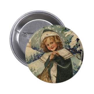 Merry Christmas - Vintage Button Pins