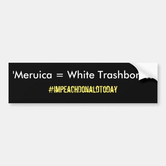 'Meruica = Trashbonics blanco Pegatina Para Coche