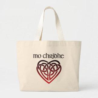 MES Chridhe - mi corazón en gaélico Bolso De Tela Grande