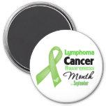 Mes de la conciencia del cáncer del linfoma imanes de nevera