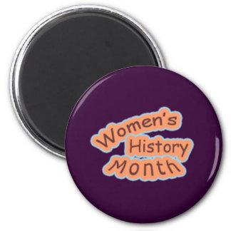 Mes de la historia de las mujeres imán de frigorífico