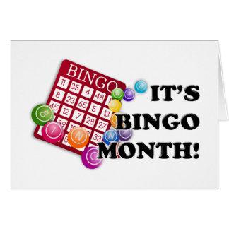 Mes del bingo tarjeta de felicitación