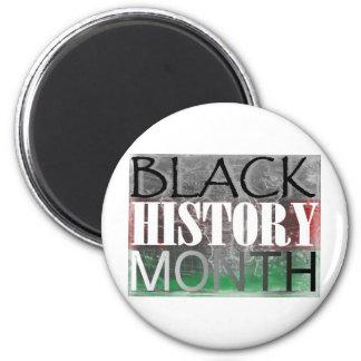Mes negro de la historia (bandera africana) iman de nevera