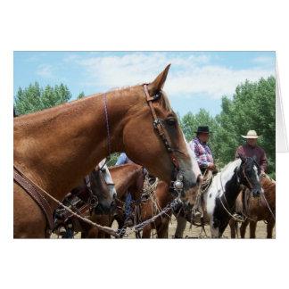 """""""MES - Un gran caballo"""" Notecard Tarjeta Pequeña"""