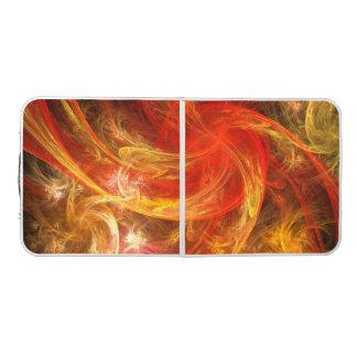 Mesa De Pong Arte abstracto de Nova de la tormenta de fuego