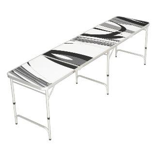 Mesa De Pong Arte blanco y negro de la forma