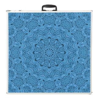 """Mesa De Pong Caleidoscopio azul decorativo 96"""" del vintage"""