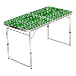 Mesa De Pong Diseño nórdico verde del invierno