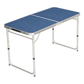 Mesa De Pong Dril de algodón azul original de la mezclilla de