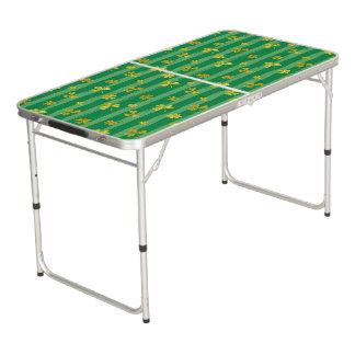 Mesa De Pong El verde de oro del trébol de St Patrick raya el