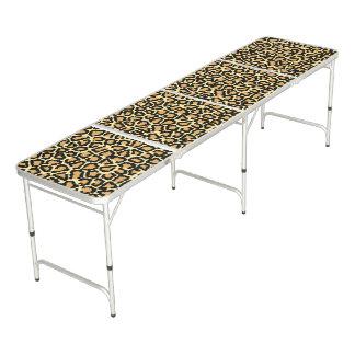 Mesa De Pong Estampado leopardo
