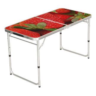 Mesa De Pong Fresas dulces rojas