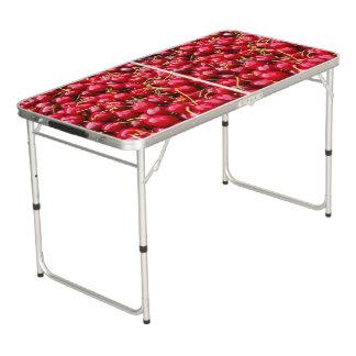 Mesa De Pong la cereza roja linda deliciosa da fruto fotografía