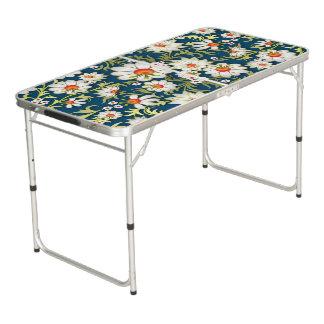 Mesa De Pong Mis flores en azul