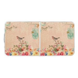 Mesa De Pong Moda lamentable, pájaro, mariposa, cordón, floral,