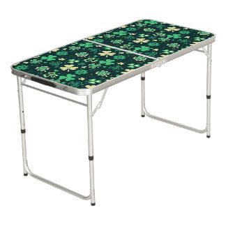Mesa De Pong Modelo afortunado verde oscuro del trébol de St
