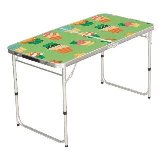 Mesa De Pong Modelo anaranjado verde divertido lindo de la