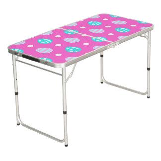 Mesa De Pong Modelo colorido rosado dulce alegre de los huevos