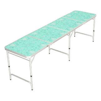 Mesa De Pong Modelo en colores pastel retro del verde de mar