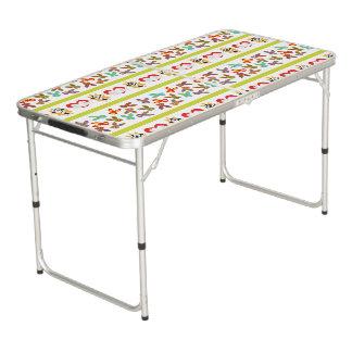 Mesa De Pong Modelo psico de Pascua colorido