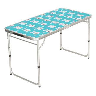 Mesa De Pong Modelo simple blanco de los conejitos de pascua de