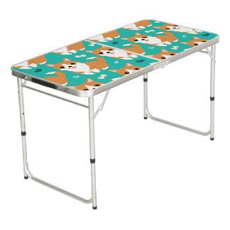 Mesa De Pong Modelo simple del ejemplo del perro lindo del