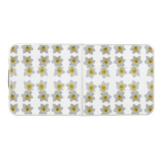 Mesa De Pong Narcisos blancos en la tabla blanca