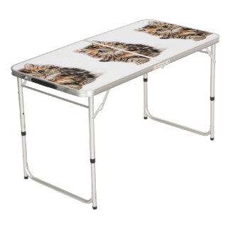 Mesa De Pong Pintura adorable del gatito