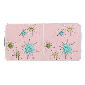 Mesa De Pong Tabla atómica icónica rosada de Starbursts Pong