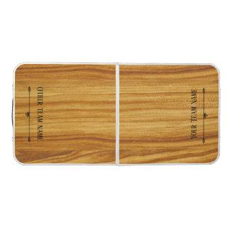 Mesa De Pong Tabla de madera de encargo del pong del nombre del