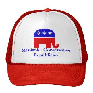 Mesiánico. Conservador. Republicano Gorro De Camionero