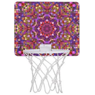 Meta del baloncesto del modelo de mosaico mini mini tablero de baloncesto