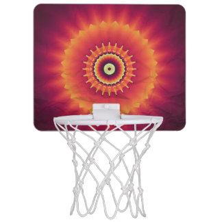 Meta tribal del baloncesto del caleidoscopio mini aro de baloncesto