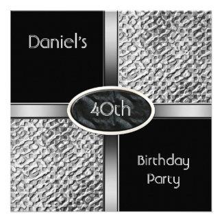 Metal a la 40 a fiesta de cumpleaños de la plata b comunicados personales