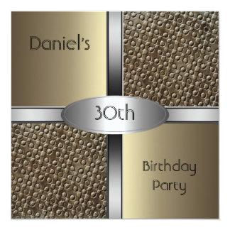 Metal a la trigésima fiesta de cumpleaños de la invitación 13,3 cm x 13,3cm