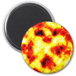 Metal A oxidada del extracto del fuego de la pasió Imán Redondo 5 Cm
